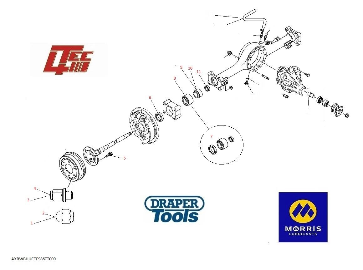 Rear Wheel Bearings    Hubs  U0026 Upright Components For Isuzu