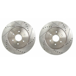 DRILLED /& GROOVED FRONT BRAKE DISCS /& PADS FORD RANGER 2.2 3.2 TDCI 2011-2016