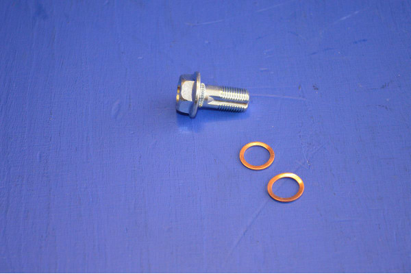 2x Disc Brake Adaptor Bolts with Threadlock and Washers M6
